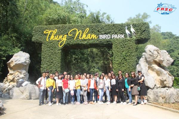 Công ty tổ chức cho đoàn thanh niên đi thăm quan và học tập tại Thung nham, Ninh Bình năm 2019